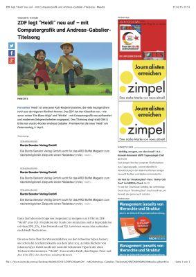 """ZDF legt """"Heidi"""" neu auf – mit Computergrafik und Andreas-Gabalier-Titelsong › Meedia_Seite_1"""